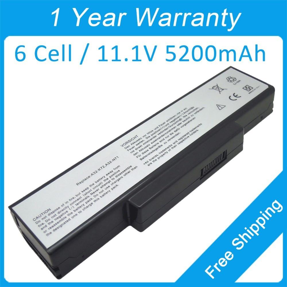 Occasion, 6 cellules batterie d'ordinateur portable a32 - N71 pour asus N73 N73F N73G N73J N71 N71V d'occasion  Livré partout en France