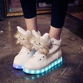 2017 New Fashion USB Charging Lights led shoes Women Casual Shoe glowing Shoes for Adults chaussure led  free shipping