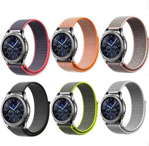 22mm 20mm nylon Strap for Samsung Gear S3 s2 sport Frontier Classic Watch Band for xiaomi huami amazfit bip pace lite strap