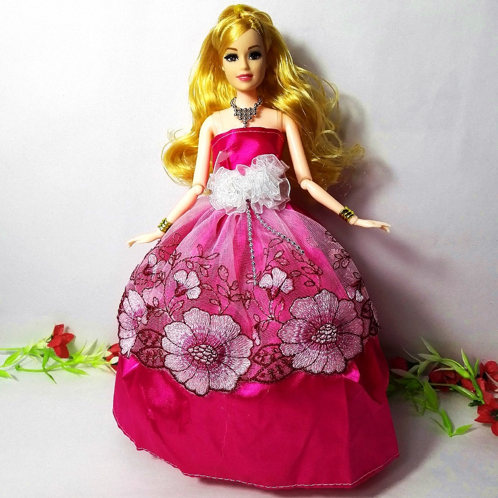 Best Barbie Dolls And Toys : Princess wedding dress noble party gown clothes for barbie