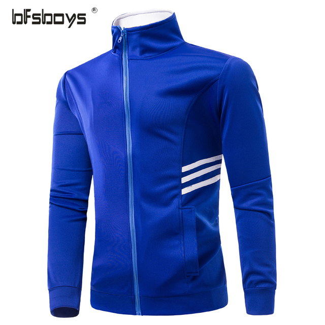 Men's Hoodie Fashion Casual white blue Hooded Jacket Mens Winter Sweatshirts Casual Zipper Jackets Men Sweatshirts Plus Size 3XL