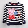 Детей мультфильм свинья детские футболки Девушки тройники рубашки продажа супер качество дети летняя одежда хлопок бесплатная доставка