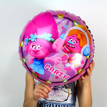 wholesale 100pcs 18inch The new Trolls helium balloons cartoon cute ballon for childrens toys party decoration globos