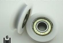 лучшая цена 10 pcs  608ZZ V Groove Sealed Ball Bearings V groove nylon pom bearing 8*30*9.8 mmNEW