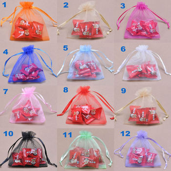 Jewelry packaging bag/gift organza pouch/Drawable bag/Organza pouch/50pcs - sale item Festive & Party Supplies