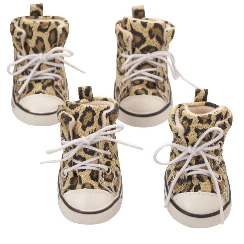 NUEVO Lienzo para perros zapatos con estampado de leopardo de ocio - Productos animales