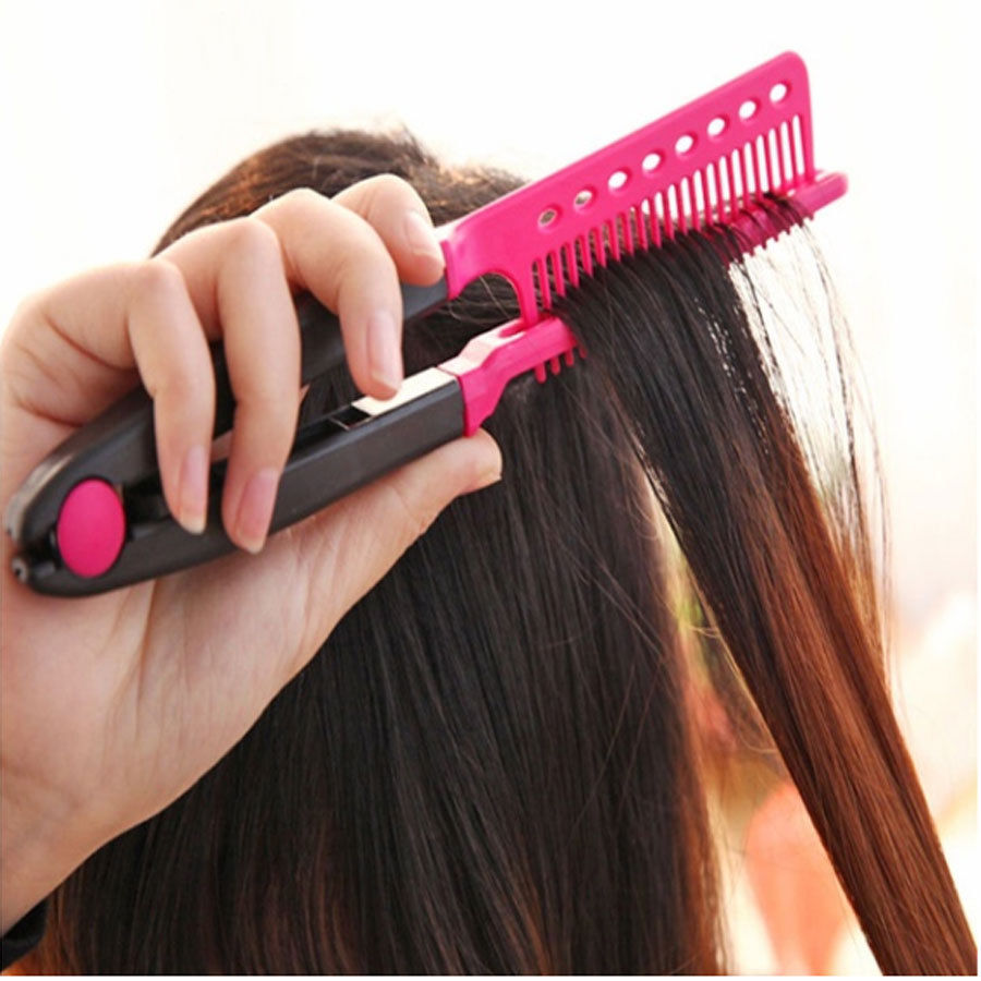 New Straight Hair Comb Brush Tool For Dry Iron Hair Curl to Straight Hair Shaper(China)