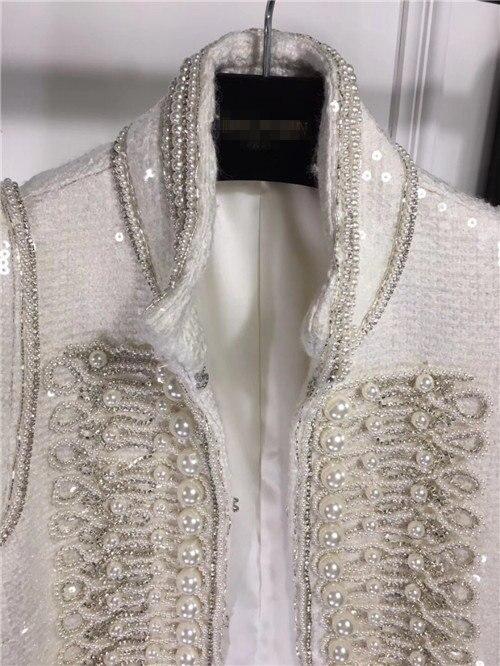 Cakucool Delle Donne Completa Sequins di Lusso Rivestimento di Autunno della Molla Del Partito Elegante Bordatura di Perle Vintage Design Giubbotti Cappotto Femminile-in Giacche basic da Abbigliamento da donna su  Gruppo 3