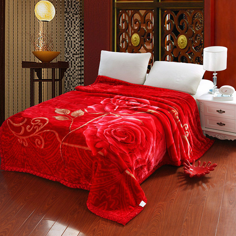 New Super Soft Rachel Blanket Large Size Flower Rose Print Double Bedding Red Wedding / Household Double Bed Single Bed rachel rachel roy new white 3 4 sleeve fitted blouse xs $69 dbfl