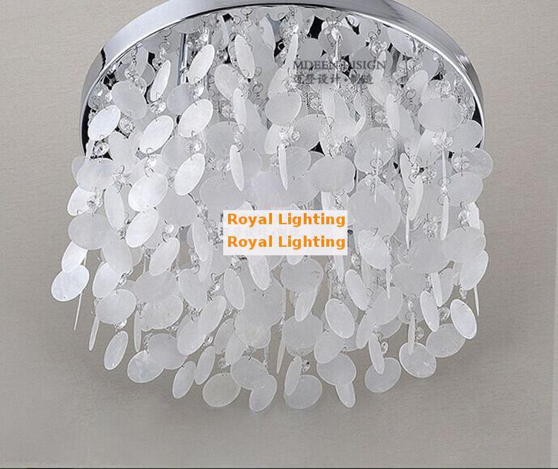 comprar pasillo shell lmpara de techo luminaria casa decorativa de interior llev la luz de techo de concha lampara dormitorio nios nios