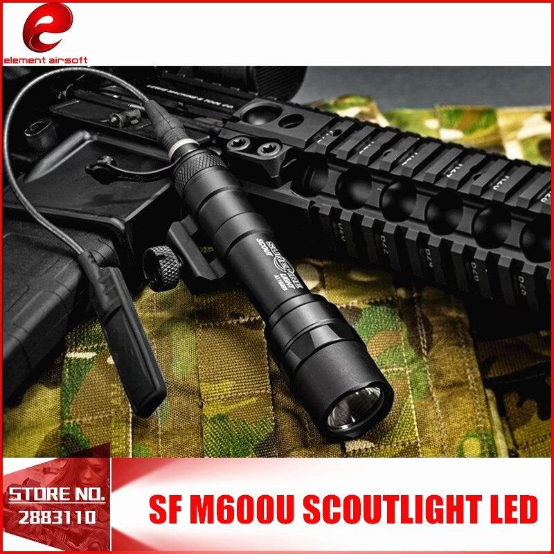 Element SF M600U Scout Light LED 500 Lumens CREE LED XP-G R5 Pistol Lights Full Version Hunting Flashlight Tactical Switch Black
