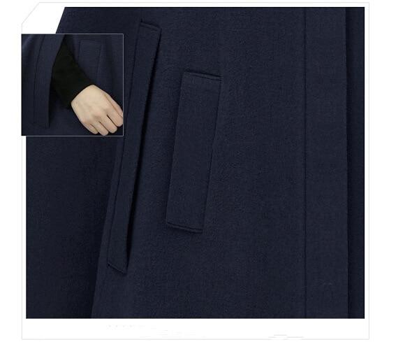 coat Outwear Beau Mode Style Manteau Trench Cape camel Dames Bleu Manteaux Cachemire Hiver Euraméricain Automne Femme OOP1TqR