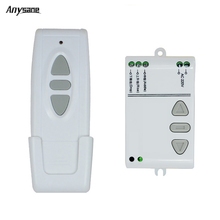 Dual control AC 220V 433mHZ smart digital RF wireless remote control switch system for projection screen smart curtain shutter