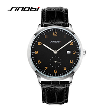 SINOBI Causal Business Men Wrist Watches Leather Watchband Luxury Brand Males Geneva Quartz Clock Gentleman Wristwatch 2017 G33