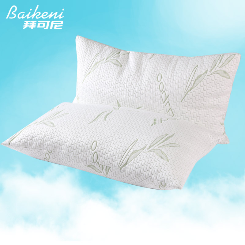 home goods shredded memory foam pillow with removable polyester and bamboo cover care cervical health