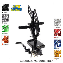 цена на For Suzuki GSXR600 GSXR750 2011-2017 Motorcycle Foot Pegs CNC Adjustable Rearset GSXR 600 750 Foot Rests Footpegs Footrests