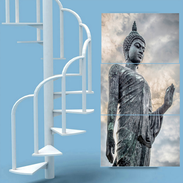 New Abstract Canvas Printing Buddhism Buddha Painting Picture Cuadros Decor Budda Canvas Art For Bed Room No framed