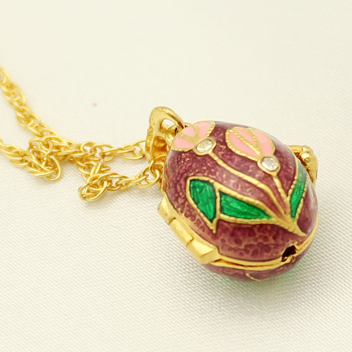 Suitable for european luxury brands necklace russian egg enamel suitable for european luxury brands necklace russian egg enamel flower crystal pendant necklace easter gifts in pendant necklaces from jewelry negle Images