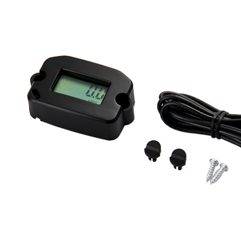 2/4 Stroke Digital Inductive Tachometer Record RPM Hour Meter Used For Motorcycle,Generator,Boat,Marine,Jet Ski,Snowmobile HM022