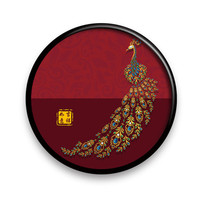 New Chinese Round Lucky Porch Corridor Living Room Bedroom Decoration Painting Rich Peacock Office Painting M1924