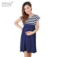 ZTOVผู้หญิงเดรสยาวคลอดชุดพยาบาลสำหรับหญิงตั้งครรภ์การตั้งครรภ์ของผู้หญิงชุดเสื้อผ้าแม่
