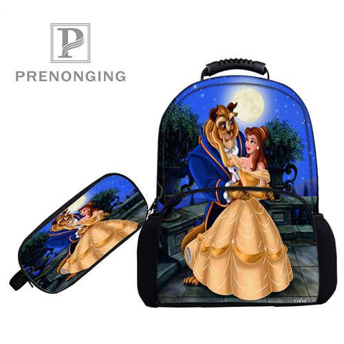 Realistisch Custom 17 Inch Beauty_beast_backpacks Pen Zakken 3d Printing School Vrouwen Mannen Reistassen Jongens Meisjes Boek Computers Bag #1031 -10-19 Koel In De Zomer En Warm In De Winter