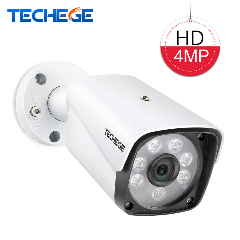 Techege 4.0MP AHD Camera CCTV Bullet Camera HD Waterproof Metal housing Night vision Security Camera for 4MP AHD system advanced 128gb cctv camera 50 meters night vision waterproof housing