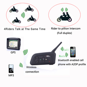 Image 3 - Fodsports V4 Wireless BT Intercom Full Duplex Communication Headset 4 Riders Talking At The Same Time Stereo Music With FM