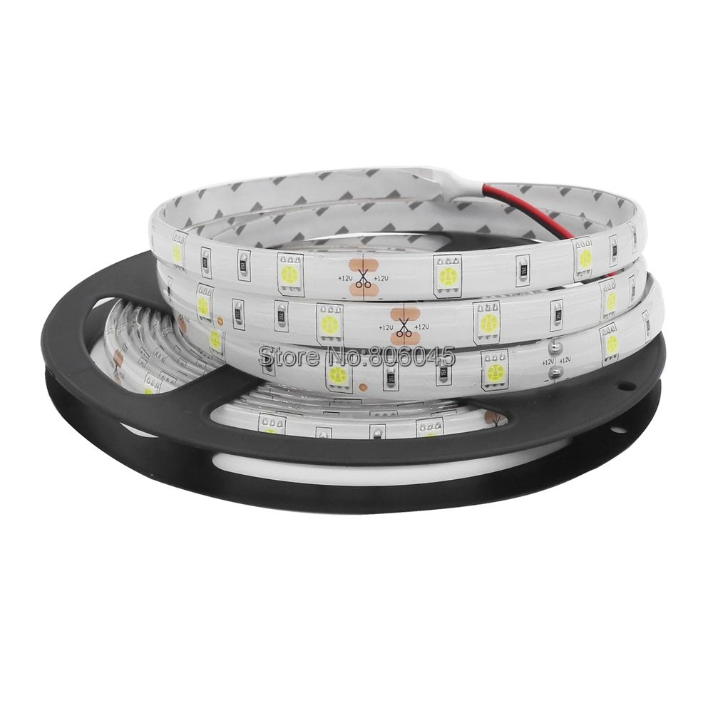 12V 5M 5050 LED Strip Light 30LED/M 150LEDs IP20 IP65 Waterproof Ribbon White Warm White Blue Green Red Yellow 5050 RGB Stripe