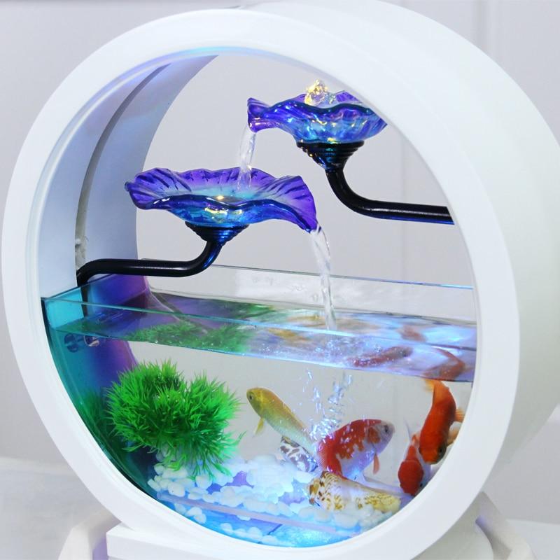 ornamentos desktop criativo pétala fluindo fonte de água casar presentes