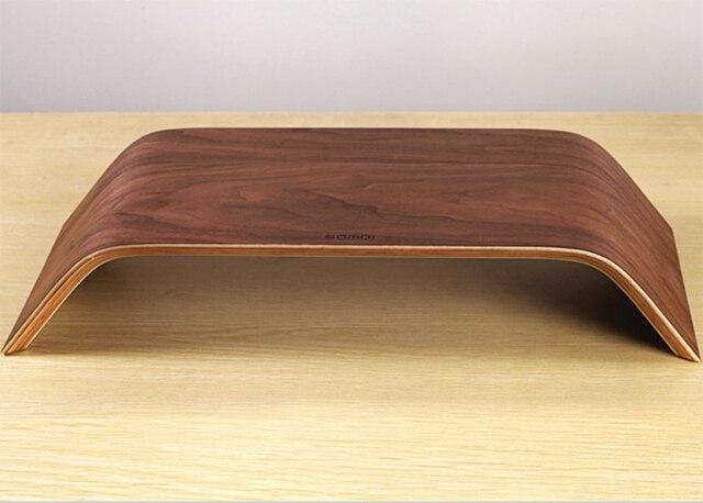 D origine samdi en bois noyer stand ordinateur portable de
