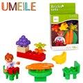 UMEILE Clásico Original de Bloques Duplo 12 Unids/set Ciudad Figura Muchacha de La Princesa Flor Mesas Sillas Juguetes Compatibles con Duplo Legoe