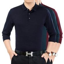 Весна и лето мужская Однотонная рубашка с длинными рукавами и отворотом Удобная Повседневная рубашка XL 2XL 3XL 4XL