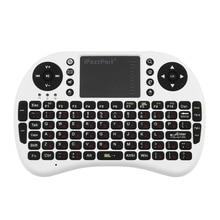 iPazzPort Universal 2 4GHz Mini Wireless Touchpad Keyboard Combo for Desktop Laptop Multimedia Russian Version Black