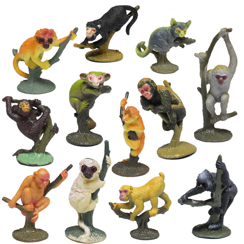 Insect Zoo Farm Animal model figures figurines toys plastic Simulation Monkey Gift For