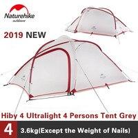 Naturehike палатка 2019 новая Hiby серия кемпинг палатка 20D силиконовая ткань открытый 3-4 человек ультра-легкий 4 сезона семейный тент
