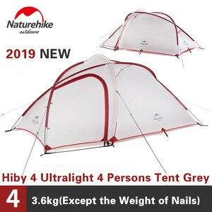 Naturehike Hiby палатка для кемпинга 20D силиконовая палатка для отдыха на открытом воздухе для больших помещений 3-4 человек Сверхлегкая туристичес...