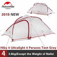 Naturehike Tenda 2019 Nuovo Hiby Serie Tenda Da Campeggio 20D Silicone Tessuto Esterno 3-4 Persone Ultra-light 4 stagione Tenda della Famiglia