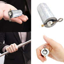 110CM metal magic tricks for professional magician stage street close up illusion 1pcs length Appearing Cane silver cudgel