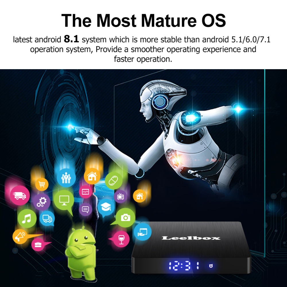 Leelbox Q4 Max Android 9 0 TV Box 4GB RAM 64GB ROM RK3328 Quad Core Built in BT 4 1 Supporting 4K Full HD 3D H 265 WiFi 2 4G Box in Set top Boxes from Consumer Electronics
