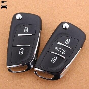 Car 3 Buttons Flip Remote Key Shell Key Case CE0536 for PEUGEOT 207 206 307 308 407 408 508  for CITROEN C1 C2 C3 C4 C5 Picasso 2018 hot sale sale words car case for citroen c2 c4 c5 ds 3 4 5 ds6 ds5 peugeot 307 206 308 207 406 408 301 trim board sub