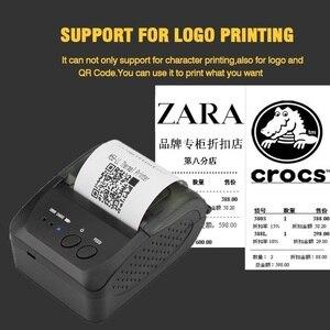 Image 3 - 58mm bluetooth mini pos impresora térmica de bolsillo impressora térmica portátil teléfono ticket android pos impresoras inalámbricas imprimir logo