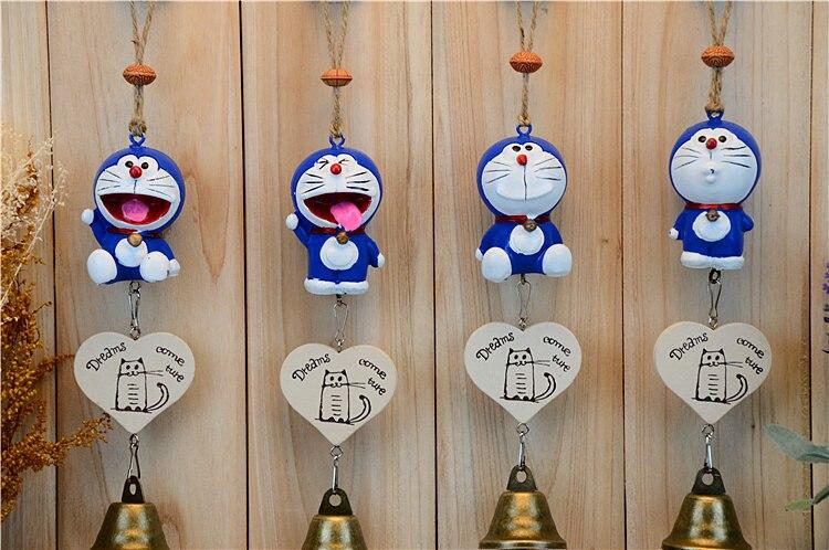 New Arrivals Creative Cute Cartoon Kawaii Lovely Doraemon Japan Style Novelty Wind Chimes Home Hanging Decoration