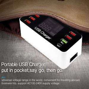 Image 5 - Station de chargement USB Charge rapide 3.0 4.0 40 W PD USB type C intelligent Station de chargement rapide affichage Led pour chargeur iPhone