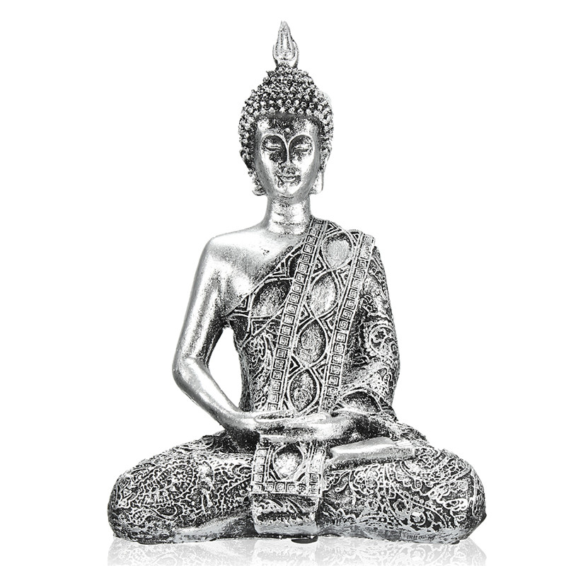 KiWarm Unique Buddha Figure Thailand Feng Shui Sculpture Buddhism Statue Budda Happiness Ornaments for Home Decor Crafts GiftsKiWarm Unique Buddha Figure Thailand Feng Shui Sculpture Buddhism Statue Budda Happiness Ornaments for Home Decor Crafts Gifts
