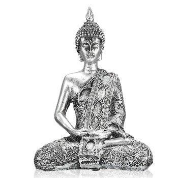 Kiwarm فريد الرقم بوذا تايلاند فنغ شوي النحت البوذية تمثال بودا السعادة الحلي والحرف ديكور المنزل الهدايا