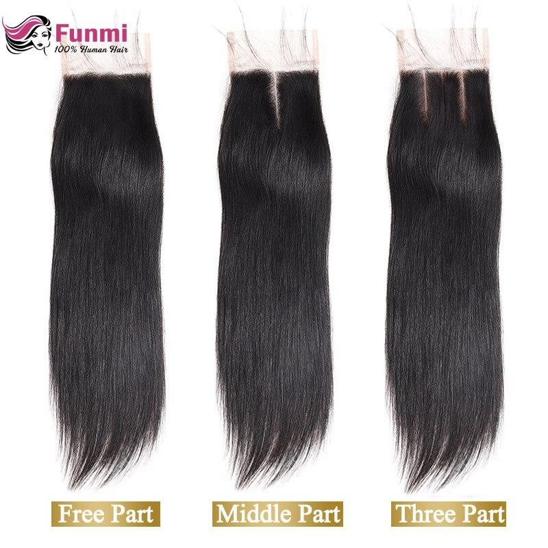 Funmi 8 20 inch Raw Indian Virgin Hair Straight Lace Closure 1 Bundle 4x4inch Human Hair