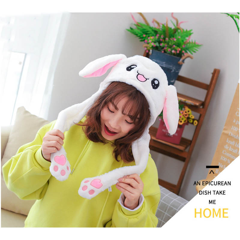 Newly Cute Funny Playtoy Hat Ear Up Down Bunny Plush Rabbit Gift Toy For Children Girls Girlfriend