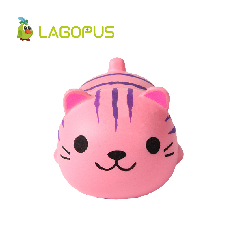 lagopus Squishy kawaii Cat Anmal Toys for Children Slow Rising Squeeze Toys for Kids Cartoon Lovely Mini Cat Anti stress