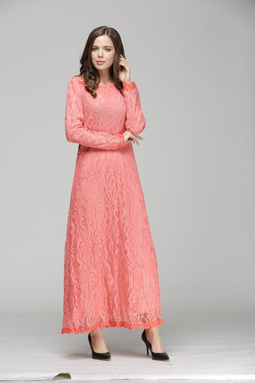 Us 21 84 5 Off New Islamic Muslim Lace Dresses For Women Long Maxi Dresses Malaysia Abayas In Dubai Turkish Ladies Clothing In Islamic Clothing From